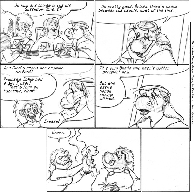 2750 Gossip At The Card Table | Yet Another Fantasy Gamer Comic