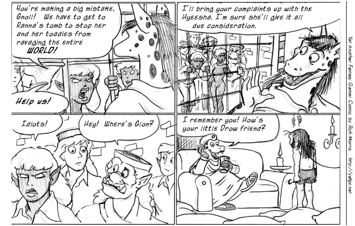 Comic fantasy strip
